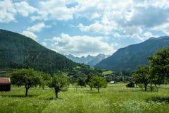 Schöne Ansicht der österreichischen Alpen Lizenzfreies Stockfoto