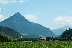 Schöne Ansicht der österreichischen Alpen Stockfoto