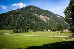 Schöne Ansicht der österreichischen Alpen Stockfotos