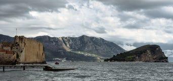 Schöne Ansicht der alten Stadt von Budva, Montenegro Lizenzfreie Stockbilder