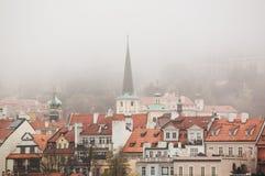 Schöne Ansicht der alten Stadt von Prag Stockbilder