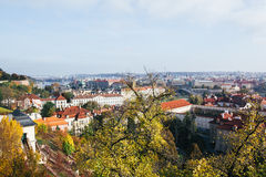 Schöne Ansicht der alten Stadt von Prag lizenzfreie stockbilder