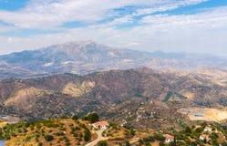 Schöne Ansicht der Berge in der Region von Andalusien, hous Lizenzfreie Stockfotografie