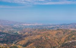 Schöne Ansicht der Berge in der Region von Andalusien, hous Lizenzfreies Stockbild