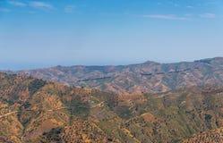 Schöne Ansicht der Berge in der Region von Andalusien, hous Lizenzfreie Stockfotos