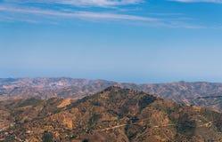 Schöne Ansicht der Berge in der Region von Andalusien, hous Stockbilder