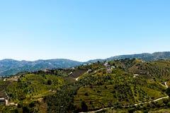 Schöne Ansicht der Berge in der Region von Andalusien, hous Lizenzfreies Stockfoto