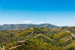 Schöne Ansicht der Berge in der Region von Andalusien, hous Stockfoto
