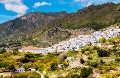 Schöne Ansicht der Berge in der Region von Andalusien, hous Stockbild