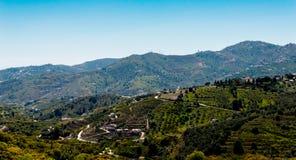 Schöne Ansicht der Berge in der Region von Andalusien, hous Lizenzfreie Stockbilder