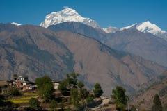 Schöne Ansicht der Himalajaberge, Nepal Lizenzfreie Stockbilder