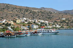 Schöne Ansicht der Küstenlinie die Bucht Kreta lizenzfreies stockfoto