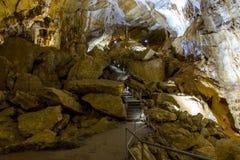 Schöne Ansicht der Marmorhöhle stockbilder