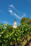 Schöne Ansicht der Pilgerfahrtkirche in Birnau bei Bodensee stockbilder