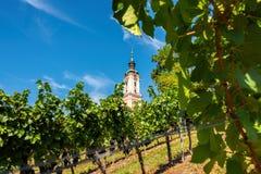 Schöne Ansicht der Pilgerfahrtkirche in Birnau bei Bodensee stockfotos