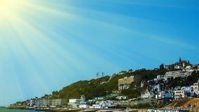 Schöne Ansicht der Stadt Le Havre Stockfoto