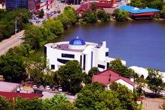 Schöne Ansicht der Stadt von Krasnodar lizenzfreies stockfoto