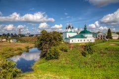 Schöne Ansicht der Stadt von Suzdal Russland Lizenzfreies Stockfoto
