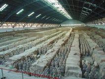 Schöne Ansicht der Terrakottaarmee in Xian, China stockfoto