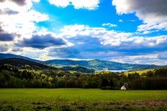 schöne Ansicht der tschechischen Landschaft stockbilder