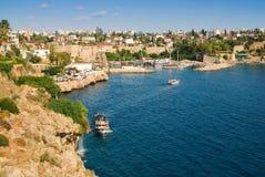 Schöne Ansicht des Antalia Hafens Stockfotografie