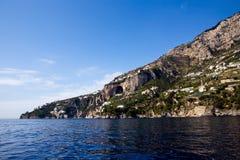 Schöne Ansicht des Costiera Amalfitana Stockfotografie