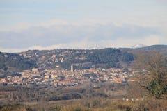 Schöne Ansicht des Dorfs stockfoto
