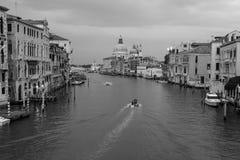 Schöne Ansicht des Grand Canal -und Basilika-Santa Maria-della Stockfotos