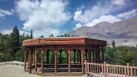 Schöne Ansicht des Khaplu-Forts stockfotografie