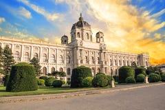 Schöne Ansicht des Museums von Art History in Wien, Österreich lizenzfreies stockbild