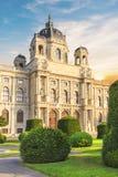 Schöne Ansicht des Museums von Art History in Wien, Österreich lizenzfreie stockbilder