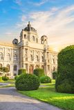 Schöne Ansicht des Museums von Art History in Wien, Österreich lizenzfreies stockfoto