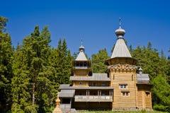Schöne Ansicht des orthodoxen Klosters auf Insel Valaam Lizenzfreie Stockfotos
