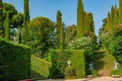 Schöne Ansicht des Parks mit dem hellen Grün Lizenzfreies Stockfoto