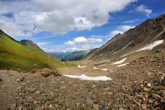Schöne Ansicht in die Alpen Lizenzfreies Stockfoto