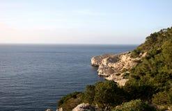 Schöne Ansicht in Ibiza Stockbilder