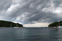 Schöne Ansicht Kroatien-Yacht adriatisches See Lizenzfreie Stockfotos