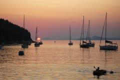 Schöne Ansicht Kroatien-Yacht adriatisches See Lizenzfreie Stockbilder