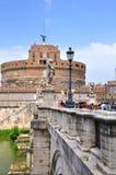 Schöne Ansicht mit Schlossst. Angelo. Rom stockbilder