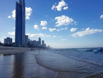 Schöne Ansicht Surfer-Paradises Gold Coast stockfoto