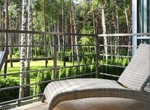 Schöne Ansicht vom Balkon Stockbild