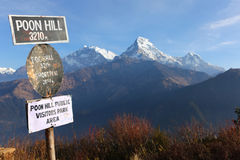 Schöne Ansicht von Annapurna Reichweite, Himalajaberge, Nepal Lizenzfreies Stockbild