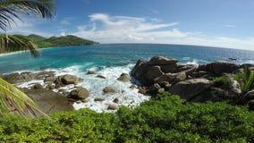 Schöne Ansicht von Balkon zu Ozean stock video