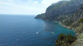 Schöne Ansicht von Capri Insel stock footage