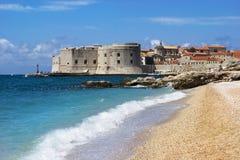 Schöne Ansicht von Dubrovnik stockbild