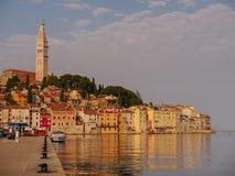 Schöne Ansicht von einem Rovinj, Kroatien Stockbild