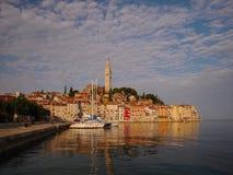 Schöne Ansicht von einem Rovinj, Kroatien Stockfotos