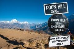 Schöne Ansicht von Himalaja, Poonhill Spitze, Nepal Stockfotografie
