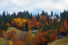 Schöne Ansicht von Moeciu Rumänien stockfotos
