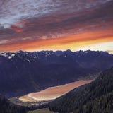 Schöne Ansicht von oben genanntem zu See achensee, Österreich Lizenzfreie Stockbilder